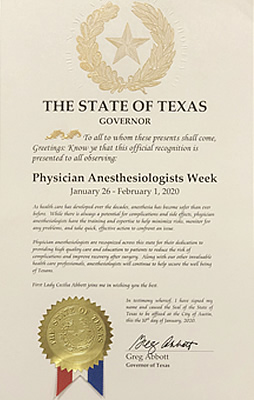 Physician Anesthesiologists Week
